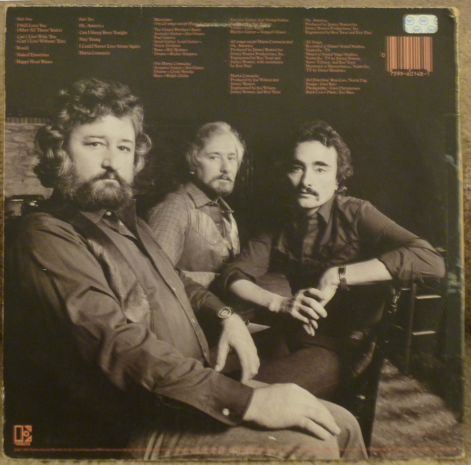 Tompall And The Glaser Brothers After All These Years Lp