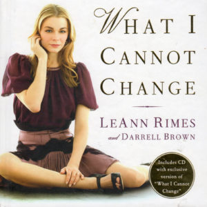 LEANN RIMES What I Cannot Change Gift Book & CD