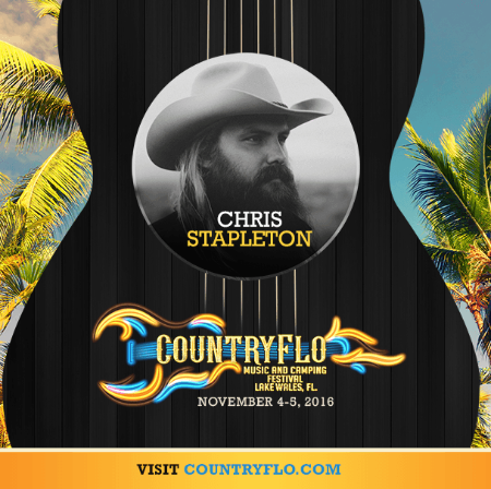 Chris Stapleton Added To Inaugural Countryflo Music Festival