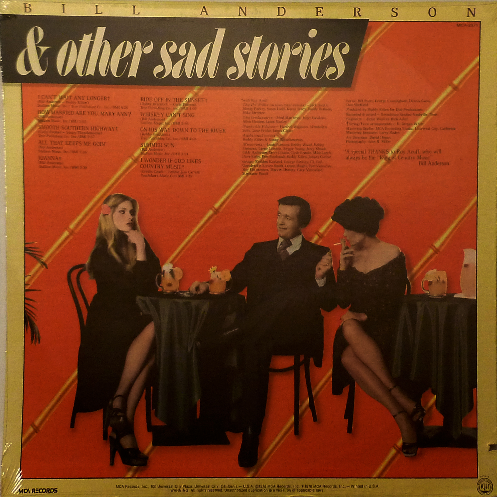 Bill Anderson Love And Other Sad Stories LP