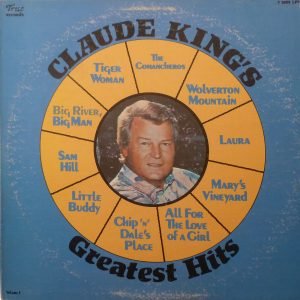 CLAUDE KING Greatest Hits LP Autographed Signed