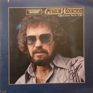 GENE WATSON Old Loves Never Die LP Autographed Signed