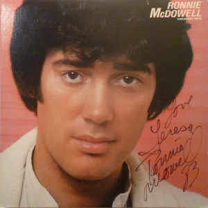 RONNIE McDOWELL Greatest Hits LP Autographed Signed