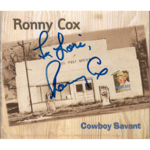 RONNIE COX Cowboy Savant CD Autographed Signed