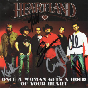 HEARTLAND Once A Woman Gets A Hold Of Your Heart CD Single Autographed Signed