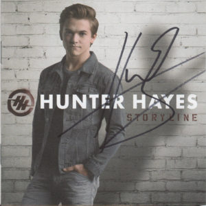 HUNTER HAYES Storyline CD Autographed Signed