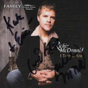 RICHIE McDONALD I Turn To You CD Autographed Signed