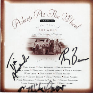 ASLEEP AT THE WHEEL Tribute To The Music Of Bob Wills And The Texas Playboys CD Autographed Signed