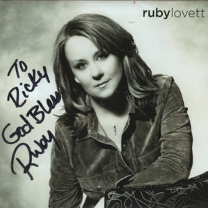 RUBY LOVETT CD Autographed Signed