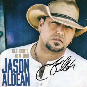 JASON ALDEAN Old Boots New Dirt CD Autographed Signed