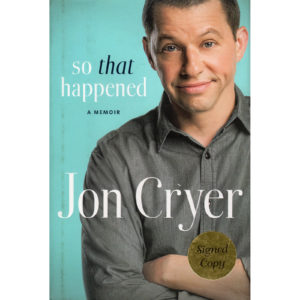JON CRYER So That Happened Book Autographed Signed