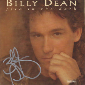 BILLY DEAN Fire In The Dark CD Autographed Signed