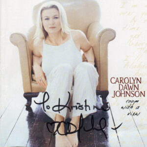 CAROLYN DAWN JOHNSON Room With A View CD Autographed Signed