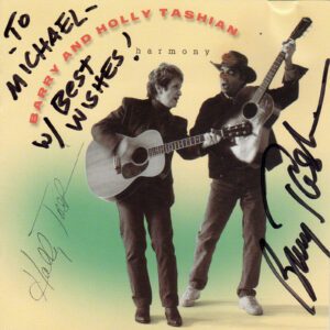 BARRY AND HOLLY TASHIAN Harmony CD Autographed Signed