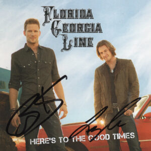 FLORIDA GEORGIA LINE Here's To The Good Times CD Autographed Signed