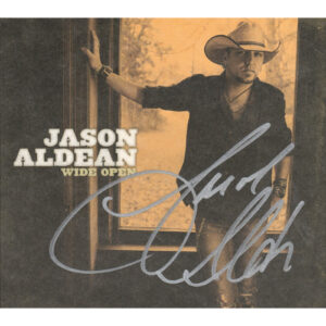 JASON ALDEAN Wide Open CD Autographed Signed