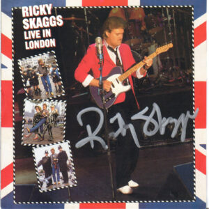 RICKY SKAGGS Live In London CD Autographed Signed