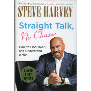 STEVE HARVEY Straight Talk No Chaser Book Autographed Signed
