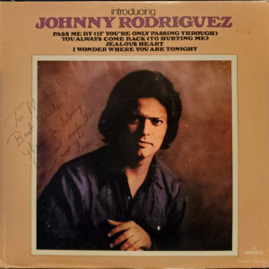 JOHNNY RODRIGUEZ Introducing Johnny Rodriguez LP Autographed Signed