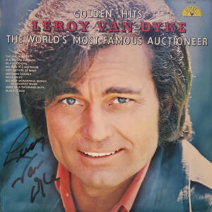 LEROY VAN DYKE Golden  Hits LP Autographed Signed