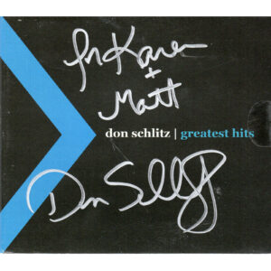 DON SCHLITZ Greatest Hits CD Digipak Autographed Signed