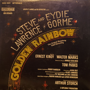 STEVE LAWRENCE & EYDIE GORME Golden Rainbow LP Autographed Signed