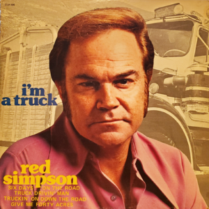 RED SIMPSON I'm A Truck LP Autographed Signed