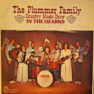 THE PLUMMER FAMILY Country Music Show In The Ozarks LP Autographed Signed