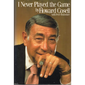 HOWARD COSELL I Never Played The Game Book Autographed Signed