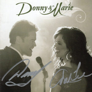 DONNY & MARIE OSMOND Donny & Marie CD Autographed Signed