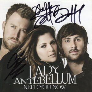 LADY ANTEBELLUM Need You Now CD Autographed Signed