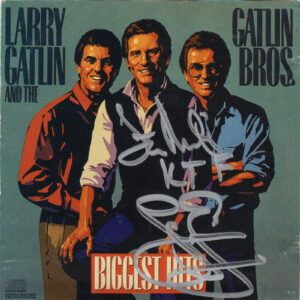 LARRY GATLIN And The GATLIN BROTHERS Biggest Hits CD Autographed Signed