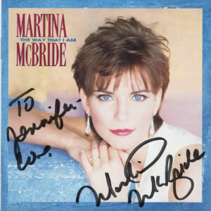 MARTINA MCBRIDE The Way That I Am CD Autographed Signed