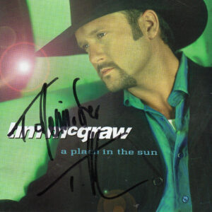 TIM MCGRAW A Place In The Sun CD Autographed