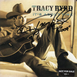 TRACY BYRD It's About Time Cd Autographed